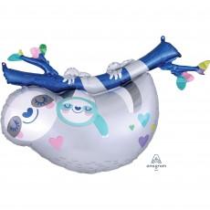 Sloth Mummy & Baby SuperShape Shaped Balloon