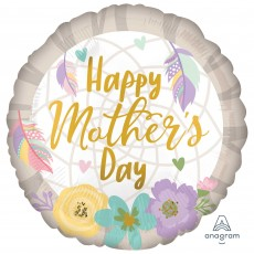 Mother's Day Standard HX Feathers & Flowers Foil Balloon