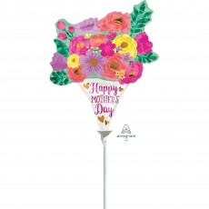 Mini Lovely Floral Bouquet Happy Mother's Day Shaped Balloon