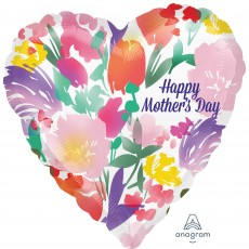 Mother's Day Jumbo HX Watercolour Flowers Shaped Balloon