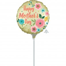 Mother's Day Satin Infused Pastel Yellow Foil Balloon