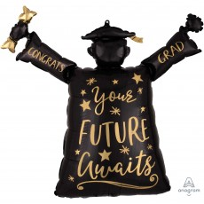 Graduation SuperShape XL Congrats Grad Your Future Awaits Shaped Balloon 73cm x 63cm