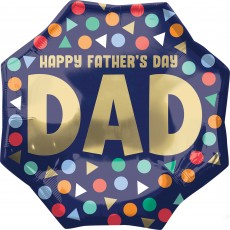 SuperShape XL Happy Father's Day Dad Shaped Balloon 55cm x 55cm