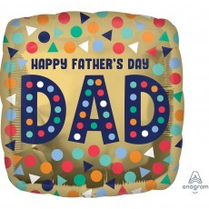 Square Standard Happy Father's Day Dad Shaped Balloon 45cm