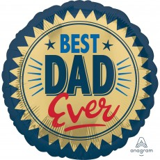 Round Father's Day Standard Best Dad Ever Shaped Balloon 45cm