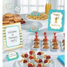 Boy's 1st Birthday Buffet Decorating Kit