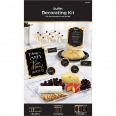 Gold Happy Birthday Buffet Decorating Kit