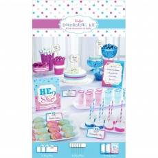 Gender Reveal Table He or She? Decorating Kit