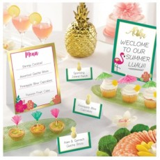Hawaiian Luau Aloha Mini Buffet Decorating Kits
