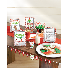 Christmas Santa Stop Here Mini Buffet Decorating Kits