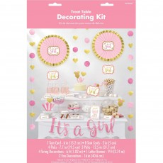 Baby Shower - General Pink Buffet Decorating Kit