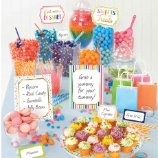 Sweets & Treats Party Decorations - Decorating Kit Deluxe Buffet