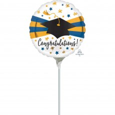 Graduation Blue & Gold Foil Balloon