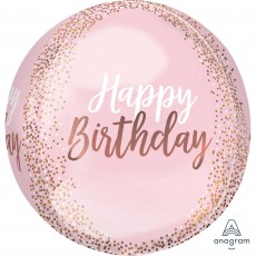 Blush Birthday Shaped Balloon
