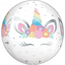 Unicorn Fantasy Iridescent Unicorn Party Shaped Balloon