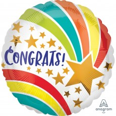 Congratulations Standard HX Shooting Star Foil Balloon