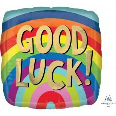 Good Luck Standard HX Rainbow Stripes Shaped Balloon