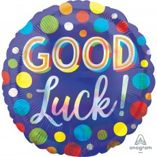 Good Luck Party Decorations - Foil Balloon Standard Dots