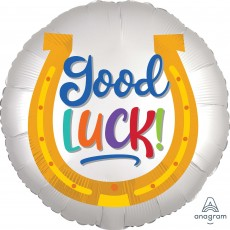 Good Luck Party Decorations - Foil Balloon Standard Satin Horseshoe