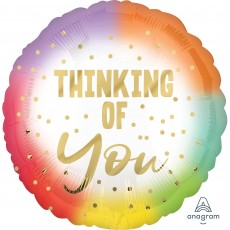 Thinking of You Ombre Standard HX Foil Balloon