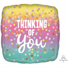 Thinking of You Party Decorations - Shaped Balloon Pastel Dots Square