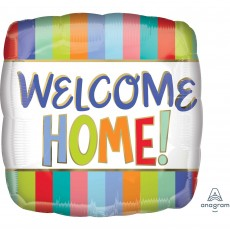 Welcome Party Decorations - Shaped Balloon Standard HX Stripes Square