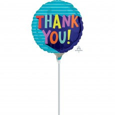 Thank You Party Decorations - Foil Balloon Fun Type Design