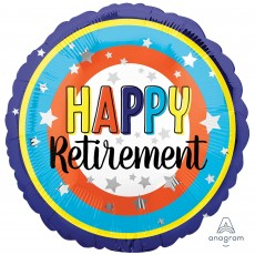 Retirement Party Decorations - Foil Balloon Colourful Circles