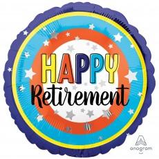 Retirement Standard HX Colourful Circles Foil Balloon