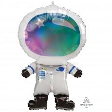 Iridescent SuperShape Holographic  Astronaut Shaped Balloon