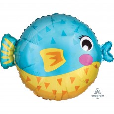 Hawaiian Luau Standard XL Puffer Fish Shaped Balloon