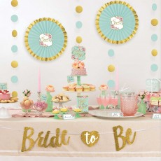 Bridal Shower Mint To Be Buffet Table Decorating Kit