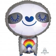 Sloth Standard XL  with Rainbow Shaped Balloon