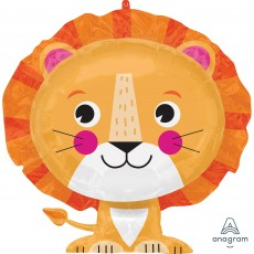 Jungle Animals Party Decorations - Shaped Balloon SuperShape XL Lion