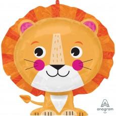 Jungle Animals SuperShape XL Lion Shaped Balloon