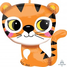 Jungle Animals Party Decorations - Shaped Balloon SuperShape XL Tiger