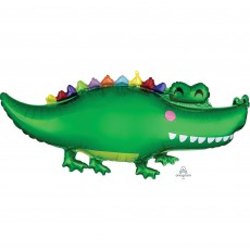 Jungle Animals Party Decorations - Shaped Balloon Super Happy Gator
