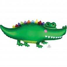 Jungle Animals SuperShape Happy Gator Shaped Balloon