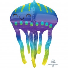 Hawaiian Luau UltraShape Jelly Fish Shaped Balloon