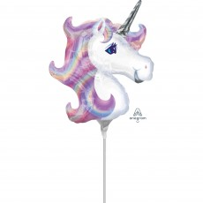 Unicorn Fantasy Party Decorations - Shaped Balloon Mini Pastel Unicorn