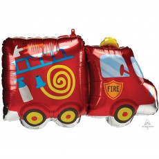 Firefighter Party Decorations - Shaped Balloon SuperShape Fire Truck