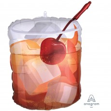 Misc Occasion SuperShape XL Old Fashioned Drink Shaped Balloon 45cm x 58cm