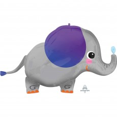 Jungle Animals Party Decorations - Shaped Balloon SuperShape Elephant