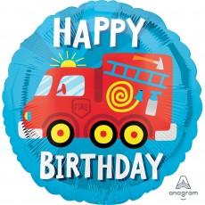 Firefighter Party Decorations - Foil Balloon Standard Fire Truck