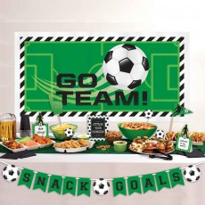 Soccer Party Decorations - Decorating Kit Goal Getter Deluxe Buffet