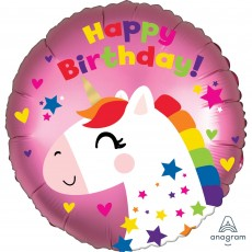 Unicorn Fantasy Party Decorations - Foil Balloon Satin Infused Unicorn