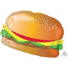 USA SuperShape Hamburger with Bun Shaped Balloon 66cm x 45cm