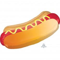 USA SuperShape XL Hot Dog With Bun Shaped Balloon 83cm x 38cm