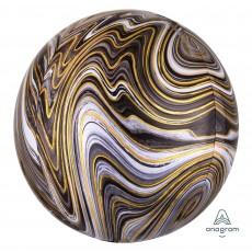 Black Marblez  Shaped Balloon