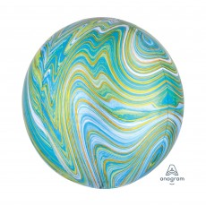 Green Blue  Marblez  Shaped Balloon